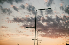 Summer jam (Maksims eldajevs) Tags: film 35mm canon eos5 ef 50mm 18 fuji superia riga spikeri latvia red sky light