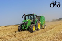 JD 6150R / JD 990 (AgriBike62) Tags: summer t johndeere paille