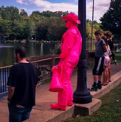 Pink Man (dug_junk) Tags: pink man film mediumformat square performer berea photogear yashicaem kodakektar100 dodd1355