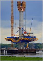 Mersey Gateway Project (Northern  Bridge Pylon) 17th June 2016 (Cassini2008) Tags: bridgeconstruction rivermersey merseylink merseygatewayproject formtraveller rubricaengineering