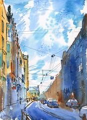 30-06-16s (Irina V. Ivanova) Tags: city building art watercolor painting sketch outdoor drawing saintpetersburg pleinair urbansketches 365sketches