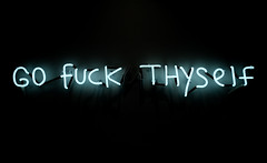 neon - go fuck thyself (john fullard) Tags: new york nyc light white newyork may neonsign 2016 ripndip popupnyc