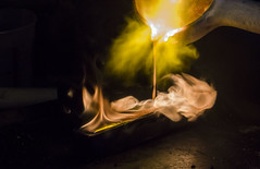 MM - Melting gold (yafit770) Tags: macro fire gold melting flame liquid casting jeweler periodictable macromondays