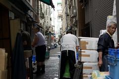Working class of Japan (Eiki N) Tags: japan tokyo tsukiji street