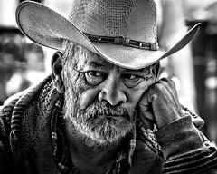 Cowboy Candid (Jim-Mooney) Tags: bw black white blackandwhite blackwhite mono monochrome monotone street photography people portrait fuji xt1 fujinon 50140mm kansascity