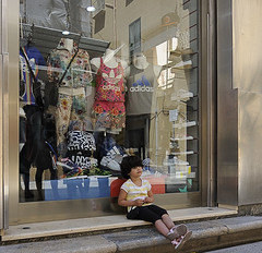 when I grow up ... (claude05) Tags: trapani sportsstore littleboy sicily