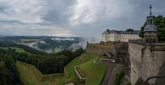 Nebel zieht auf ber der Festung (matthias_oberlausitz) Tags: festung knigstein sachsen schsische schweiz nebel regen regenwetter elbtal elbsandsteingebirge