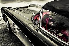 Legend in black&red (ericbaygon) Tags: car corvette chevrolet american voiture amricaine black noir red rouge monochrome d300s nikon nikonpassion bratzmonkeys belgique belgium