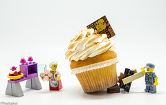 Cake Boss (The Aphol) Tags: lego collection fun legography macro toy minifigures toys cake sweet cookie granny cooking minfigures cupcake afol toyphotography