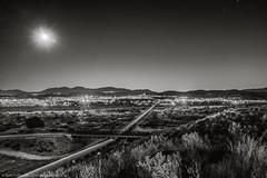 Water Crossing (dejavue.us) Tags: longexposure nightphotography nikon aqueduct d800 180350mmf3545 fullmoon santaclarita nikkor blackandwhite santaclarariver california