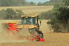 Autumn Farming (pember556) Tags: drilling ploughing caterpillartractor creacysfarm canon5dmark2 canon70200f4isl