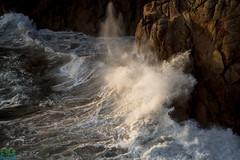 Making A Splash (James G Photography) Tags: uploadedviaflickrqcom landsend cornwall waves splash water sunset sea coast