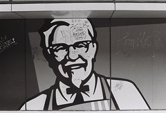 KFC (Nutdanai S.) Tags: kfc graffity bangkok street logo nikon nikonfm2 film ilford hp5