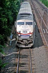 Amtrak P42 Numero Uno (craigsanders429) Tags: amtrak amtraktrains bnsfracewayinchicago bnsfchicagoraceway amtraksillinoiszephyr p42dc amtrakp42locomotives amtrakp42dc hinsdaleillinois amtrakp42dcno1 passengertrains passengercars tracks railroadtracks highlands