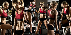 46545163_m (adamsenex) Tags: gym exercise fitness training bodybuilding bodybuilder woman girl female musculature musculation muscles sportsman sport sporting sportingevent sportive sporty young coaching workout sporthall physicaltraining exercises exercising athlete brawny muscular athletics execute dark power sturdy hardy tough endurance strong powerful vigorous train trained weight concept collage panorama horizontal