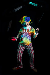 Day 3542 (evaxebra) Tags: clown knife knives jester juggle juggling tiedye rainbow wig scary halloween creepy stab blood 33daysofhalloween 33days 365days haunted haunters october opc2016 opc octoberphotochallenge pregnant pregnancy maternity
