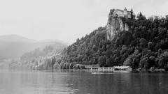 Bled Castle B&W (VivaViena!) Tags: bw lake castle lago see slovenia castelo bled schloss eslovenia slovenien vivaviena