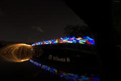 Explosion (mubarak.mashor) Tags: longexposure lightpainting colors bulb night fire spin orb led le lp sw nikkor sparks brunei manfrotto d800 steelwool bwn 055xprob 1424mm diamondbridge lightxplorers