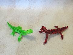 Lizard (Toshikazu Kawasaki) (OrigamiSunshine) Tags: paper origami lizard fold paperfolding toshikazukawasaki origamisunshine