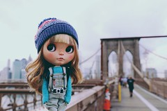 Chloe at Brooklyn Bridge