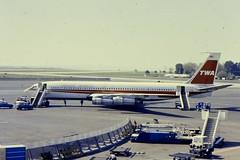 TWA B707-300 N775TW at NCE (gordon.bevan@xtra.co.nz) Tags: twa boeing707 twaboeing707 boeing707atniceairport niceairport1970s twaandniceairport