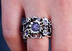 Glimpse of Malibu Purple Ring K1 P4160-4
