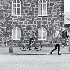 TrekWalk (Jeremy Brooks) Tags: people blackandwhite bw bike bicycle trek blackwhite iceland reykjavik silverefexpro
