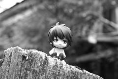 B_and_W_Adventure___L_by_ActionFigureMadness (ElvenArcher309) Tags: white black photography death note l petite lawliet nendoroid
