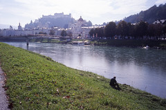 Along the riverside (TAHUSA) Tags: camera leica canada colour salzburg film 35mm iso100 austria kodak slide summicron epson 100 f2 e6 m2 v1 version1 selfscan e100g v700 352 8elements