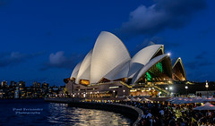 Opera House, Blue Hour, Sydney, New South Wales, Australia (D200-PAUL -- Off for the Weekend) Tags: sydney circularquay unescoworldheritagesite unesco worldheritagesite newsouthwales jornutzon sydneyharbor royalbotanicgardens sydneyoperahouse jørnutzon autralia sydneyharborbridge sydneytheatrecompany operahousesydney operaaustralia sydneysymphonyorchestra josephcahill theaustralianballet utzonjørn utzonjorn cahilljoseph