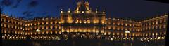 Salamanca Plaza pano (๑۩๑ V ๑۩๑) Tags: building church architecture spain community medieval espana leon salamanca comun castilla castile castillayleon spanyolország