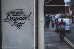 Never Despair! (BenChapmanphoto) Tags: road street city england streetart wall canon graffiti december norfolk streetphotography norwich despair fullframe 2014 canon24105l canonef24105mmf40lisusm canon5dmkiii