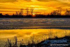 Iowa Early Winter sunset (Thomas DeHoff) Tags: winter sunset yellow reflections sony iowa a580