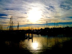 sunset at the marina (citizensunshine) Tags: sf sanfrancisco sunset marina docks boats harbor boat twilight dock harbour yacht sails bayarea eastbay yachts sailboats emeryville emeryvillemarina