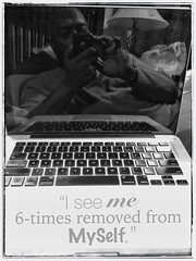 2015.01.04 — Day 004 (HTRM2) Tags: portrait blackandwhite bw selfportrait man black male apple self myself beard bed laptop grunge text down monochromatic screen africanamerican aged reclining grayscale middle lying j4 40s greyscale laying iphone removed selfie reflexive 2015 mediated 365days htrmiller2 snapseed adobephotoshoptouch pstouch iphone5s