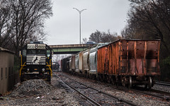 Sweet Home Alabama (Jordan Hood) Tags: rain yard train moody gloomy ns alabama tuscaloosa rails norfolksouthern nscorp