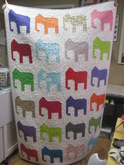 Coast to Coast Elephant quilt finished (stampqnjlr) Tags: am going hink embroider i