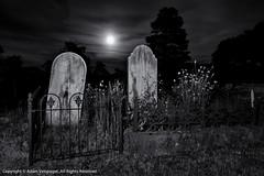 Moonlight Over Woodend Cemetery I (Adam Verspaget) Tags: light moon cemetery graveyard night dark painting headstones atmosphere graves moonlit moonlight gravestones atmospheric woodend