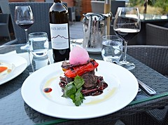 FINE DINING (carolynthepilot) Tags: trip travel food london dinner carolyn menu restaurant cafe amazing europe european wine 5 zurich resort skiresort chef steak destination dining luxury finedining vino foodie dinnerfortwo goldenwings worldtraveller romanticdinner frommers rockymt carolynbistline bistline flickrhivemindnet