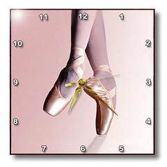 3drose Ballet Slippers Wall Clock, 10 by 10-Inch (http://bestwallclocksusa.com Wall Clocks For Sale) Tags: ballet clock wall slippers 10inch 3drose