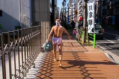 Hacchobori (Dan Szpara) Tags: street japan tokyo candid streetphotography fundoshi hacchobori