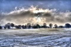 Drama on the common. (sidibousaid60) Tags: uk sun snow cold clouds buxton derbyshire hdrtrees fairfieldcommon