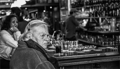 """People of """"De Zwarte Ruiter"""" (zilverbat.) Tags: portrait people blackandwhite bw bar town scenery candid thenetherlands expressions streetphotography streetlife angry timelife portret urbanlife alleycats expressie streetcandid hofstad straatfotografie blackwhitephotos zwarteruiter straatfotograaf"""