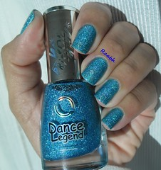 Throgh the Glass - Dance Legend (Desafio Ostentassaum 09) (Raabh Aquino) Tags: blue azul nails nailpolish holographic unha esmalte naillacquer hologrfico