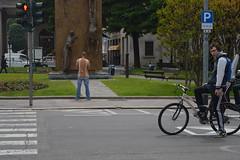 True Juxtaposition (Supreme-B) Tags: street travel people italy bike photography nikon europe juxtaposition mountainbikes