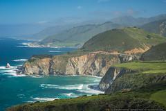 Coastal California (mhoffman1) Tags: ocean california ca bridge sea cliff mountains landscape coast highwayone scenic bigsur hills pacificocean coastal coastline hazy hdr bixbybridge archbridge cabrillohwy sonyalpha a7r