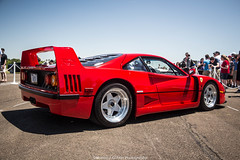 The Legend (Hunter J. G. Frim Photography) Tags: red classic vintage ferrari turbo manual expensive rosso rare supercar v8 corsa f40 ferrarif40 rossocorsa cfcharities