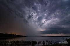 Chautauqua Flash (kevin-palmer) Tags: trees sky lake storm water weather electric night clouds dark evening illinois spring flash may stormy structure thunderstorm lightning nationalwildliferefuge chautauqua chautauquanationalwildliferefuge tokina1628mmf28 nikond750