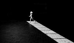 RUN (Georgie Pauwels) Tags: street sunlight girl shadows child candid streetphotography running run minimal