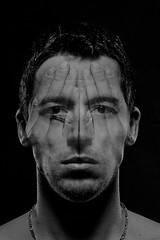 What is your mask? (Herr.Dag) Tags: light portrait black male dark studio blackwhite soft manipulate herdaghansen